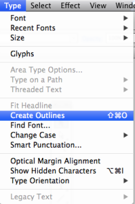 2 new font Create outlines